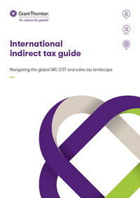 Cover - International Indirect Tax Guide of Grant Thornton